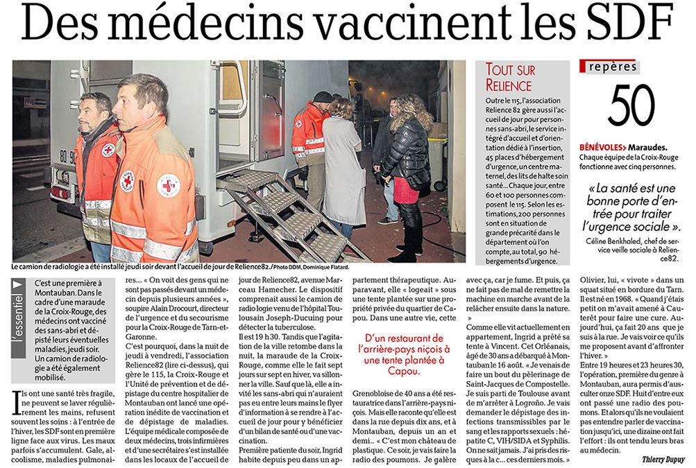 16/11/2017 : Vaccins et radios pour les SDF de Montauban